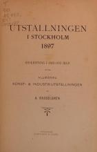 Cover of Utställningen i Stockholm 1897