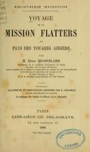 Cover of Voyage de la mission Flatters au pays des Touareg Azdjers