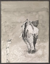 Cover of Walter Dalrymple Maitland Bell manuscript. journal of his safari in French Somaliland, 7 February 1924 to 2 June 1924