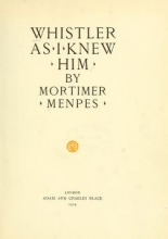 Cover of Whistler as I knew him