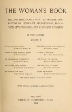 Cover of The woman's book