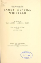 Cover of The works of James McNeill Whistler