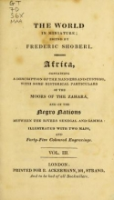 Cover of The world in miniature;
