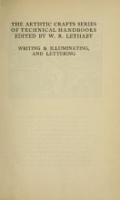 Cover of Writing & illuminating, & lettering