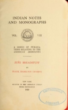 Cover of Zuñi breadstuff