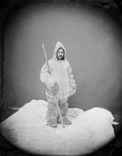 Portrait of Ebierbing, Photograph attributed to T.W. Smillie, taken at the Smithsonian Institution, ca. 1873, National Anthropological Archives