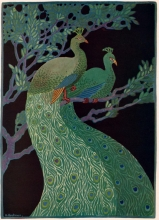 Peacocks by Albert W. Heckman from the November 1919 issue of Keramic Studio.
