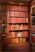 bookcase with Smithson's collection