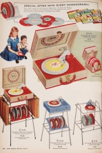 Children's Record Players from the Sears Catalog