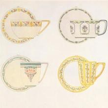 decorated teacups from Keramic Studio magazine