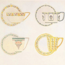 decorated teacups from Keramic Studio magazine