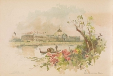 Horticultural Hall, viewed from the Wooded Island, from Portfolio of the World's Columbian Exposition, Chicago, 1893
