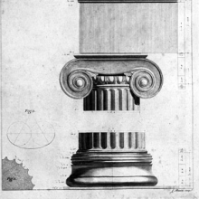 Ionic column detail and cross section