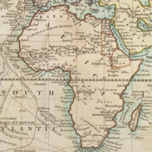 map of the African continent