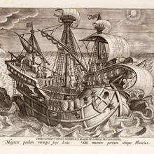 illustration of 17th. century European sailing ship