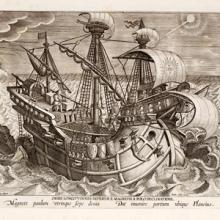 illustration of 17th. century European sailing ship