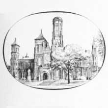 illustration of the Smithsonian Castle building
