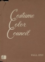 """Cover of """"Costume Color Council presents costume color families for fall, 1950"""""""