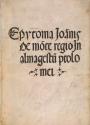 "Cover of ""Epytoma Ioa[n]nis de Mo[n]te Regio in Almagestu[m] Ptolomei"""