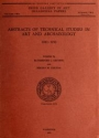 """Cover of """"Abstracts of technical studies in art and archaeology, 1943-1952 /"""""""