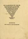 """Cover of """"Ad clarissimum virum D. Ioannem Schonerum, De libris reuolutionu[m] eruditissimi viri, & mathematici excellentissimi, Reuerendi D. Doctoris Nicolai Copernici ... per quendam Iuuenem, mathematicae studiosum Narratio prima"""""""