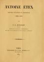 Cover of Antoine Etex peintre, sculpteur et architecte, 1808-1888