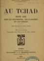 """Cover of """"Au Tchad"""""""
