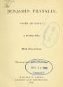 "Cover of ""Benjamin Franklin, 'doer of good'"""