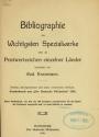 """Cover of """"Bibliographie der wichtigsten Spezialwerke über die Postwertzeichen einzelner Länder"""""""