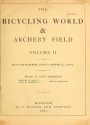 """Cover of """"The bicycling world & archery field"""""""