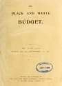 Cover of Black & white illustrated budget