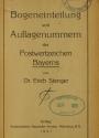 Cover of Bogeneinteilung und Auflagenummern der Postwertzeichen Bayerns