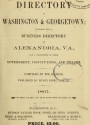 """Cover of """"Boyd's directory of Washington & Georgetown"""""""