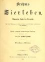 """Cover of """"Brehms Tierleben"""""""
