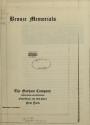 """Cover of """"Bronze memorials"""""""