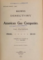"""Cover of """"Brown's directory of American gas companies"""""""