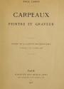 Cover of Carpeaux peintre et graveur
