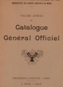 Cover of Catalogue général officiel t. 11 annexe