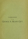 """Cover of """"Catalogue of engravings and etchings presented by George A. Hearn to the Cooper Union Museum for the Arts of Decoration"""""""