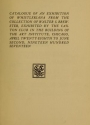 """Cover of """"Catalogue of an exhibition of Whistleriana from the colleciton of Walter S. Brewster /"""""""