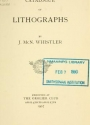 "Cover of ""Catalogue of lithographs by J. McN. Whistler exhibited at the Grolier Club April 4th to April 27th, 1907"""