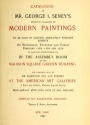 "Cover of ""Catalogue of Mr. George I. Seney's important collection of modern paintings"""