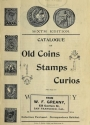 Cover of Catalogue of old coins, stamps, curios