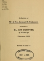 "Cover of ""Collection of Mr. & Mrs. Samuel M. Nickerson"""