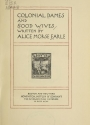 Cover of Colonial dames and good wives