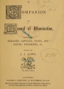 "Cover of ""A companion to Manual of illumination"""