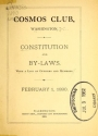 "Cover of ""Constitution and By-Laws, with a list of officers and members"""