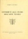 """Cover of """"Contributi allo studio dell'arte tessile"""""""