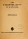 "Cover of ""Das Residenzmuseum in München"""