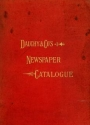 """Cover of """"The Dauchy Co.'s newspaper catalogue"""""""